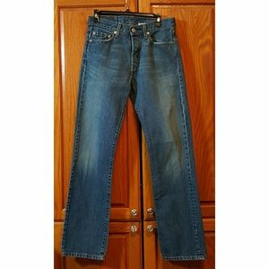 LEVI'S - VINTAGE 501 BUTTON FLY HIGH RISE STRAIGHT